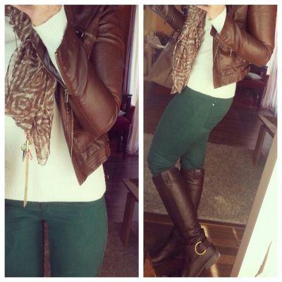 Emerald green pants, love it