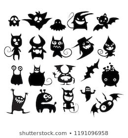 halloween cute vector illustration set of cheerful