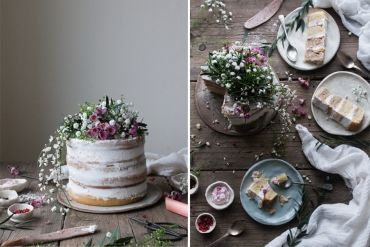 VEGAN RHUBARB LAYER CAKE + SUPPER CLUB ANNOUNCEMENT WITH SALVIA LIMONE (V+, ChF, GF) - The Little Plantation
