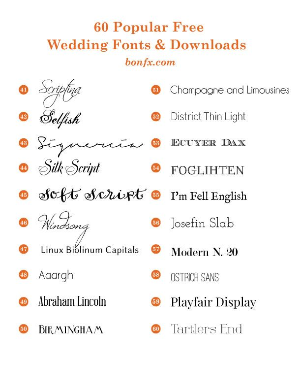 60 Por Free Wedding Fonts Bonfx