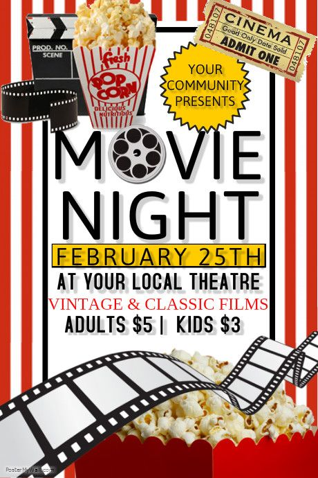 Search Results For Movie Movie Night Flyer Movie Night Event Flyer Templates