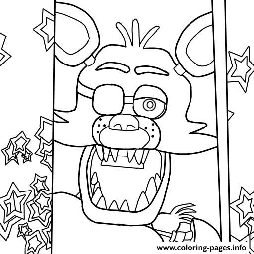 Print fnaf foxy to color coloring pages projects to try for Fnaf coloring pages nightmare