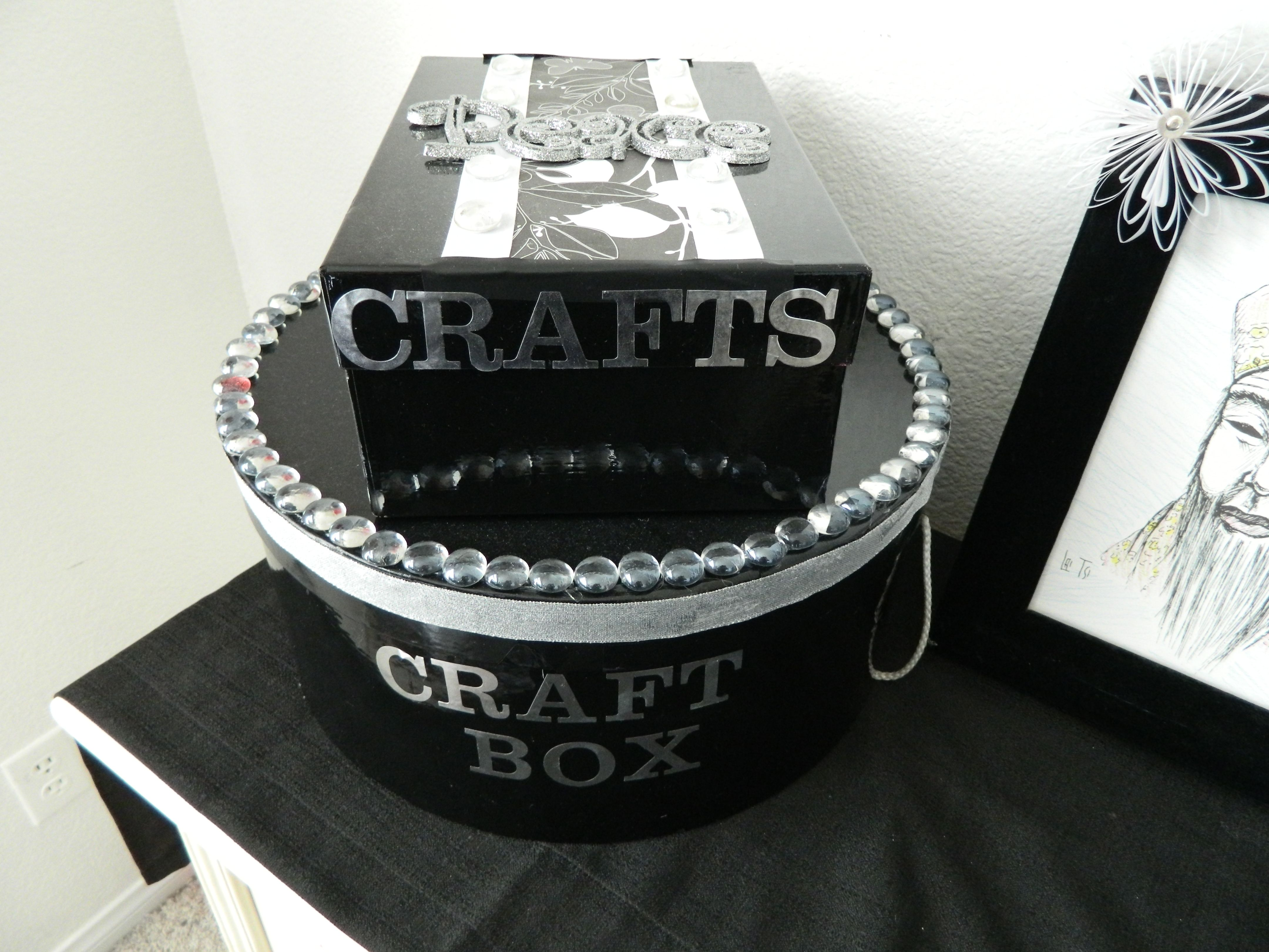 Craft hat boxes - Old Shoe And Hat Boxes That I Found At Ross I Painted It