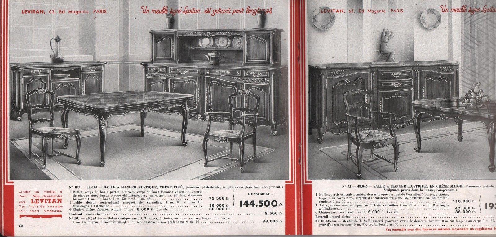 Catalogue Levitan Meubles Annees 1950 Livres Bd Revues Revues Autres Ebay Mobilier De Salon Catalogue Annees 1950
