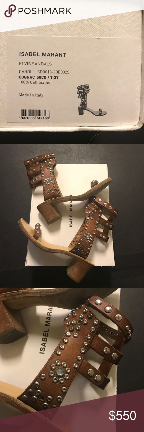 Isabel marant Elvis sandal Isabel marant Elvis Caroll sandal. Cognac color calf leather made in Italy. Impossible to find!  Runway 2013. Size 37. 100% authentic /real. Isabel Marant Shoes Sandals