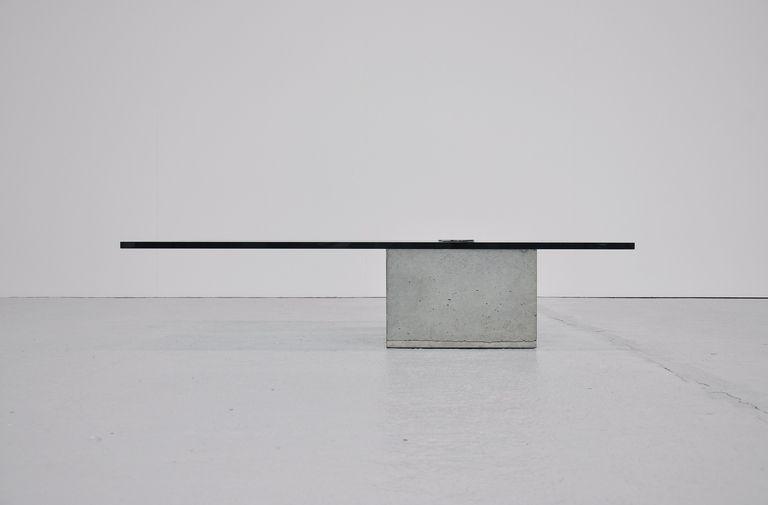 Sergio and Giorgio Saporiti | coffee table in concrete 1970