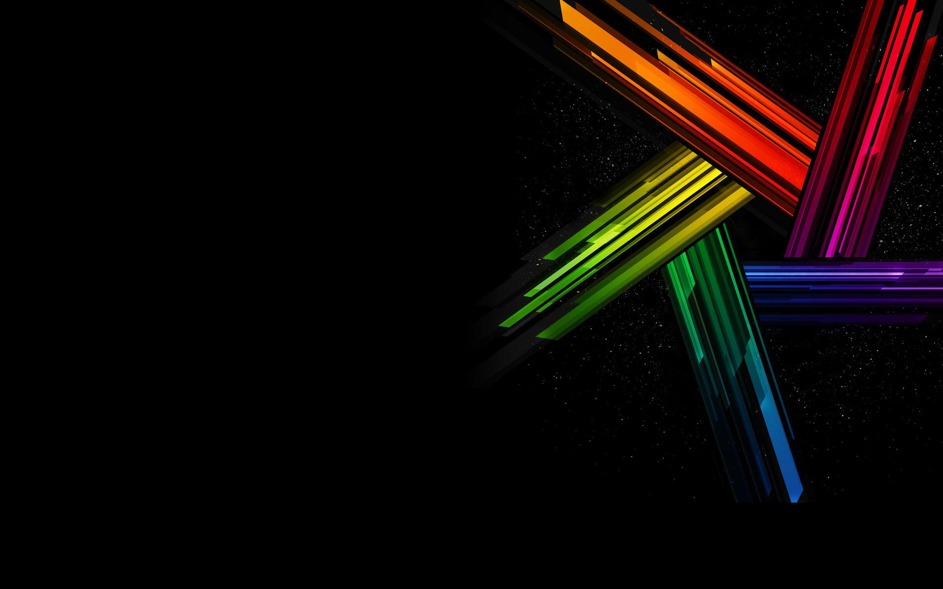 Rainbow Star Black Background With Images Background Hd