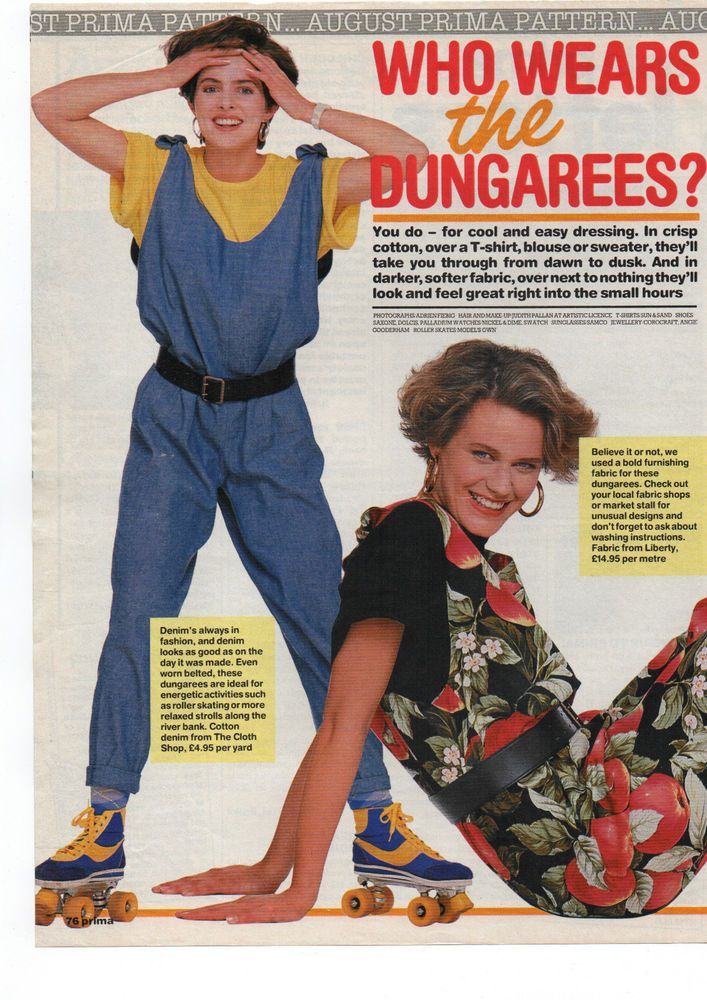 PRIMA SEWING PATTERN - WHO WEARS THE DUNGAREES? YOU DO FOR COOL ...