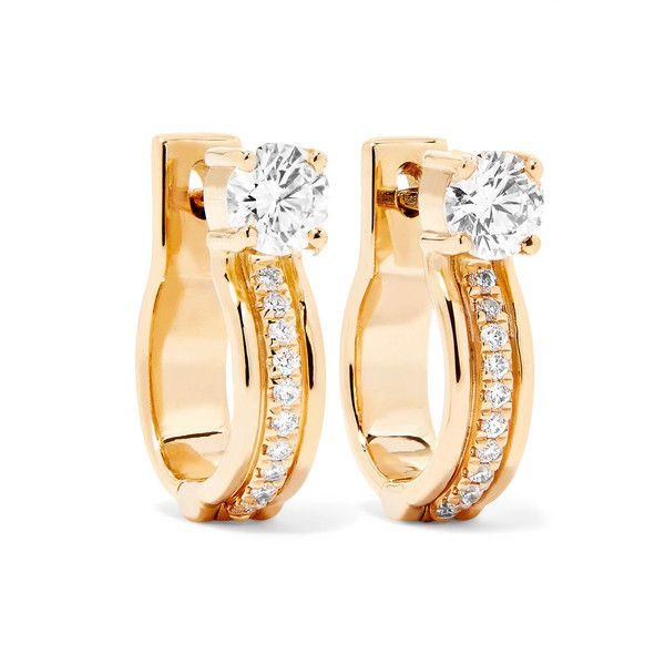 Melissa Kaye Jen Maia 18-karat Gold Diamond Hoop Earrings jsF3dAE4iu