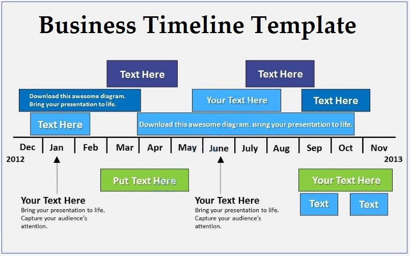 business timeline template 4 free printable pdf and excel