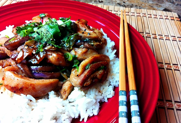 Photo of Chicken Recipe : Spicy Stir Fry Chicken with Eggplant : How to Stir Fry : Chinese Food – Seonkyoung Longest