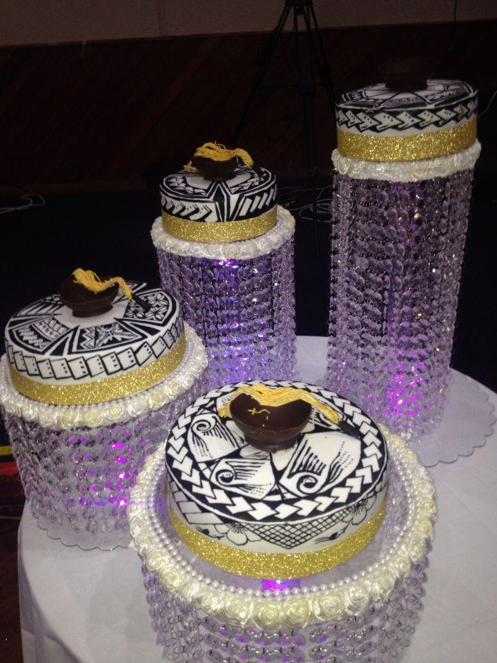 Hand Painted Samoan Grooms Wedding Cake By Judy Ulugia