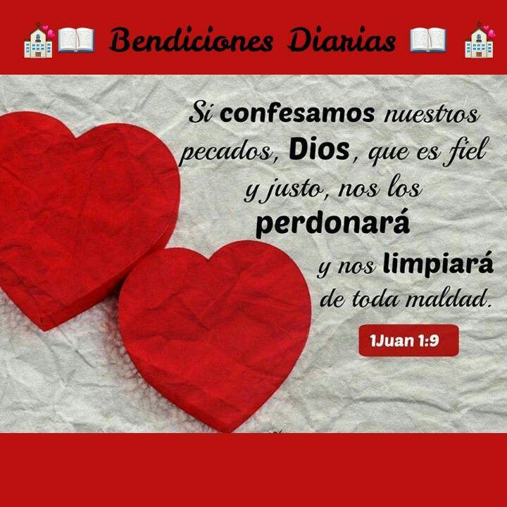 1 de Juan 1:9. Bendiciones Diarias. Www.facebook.com
