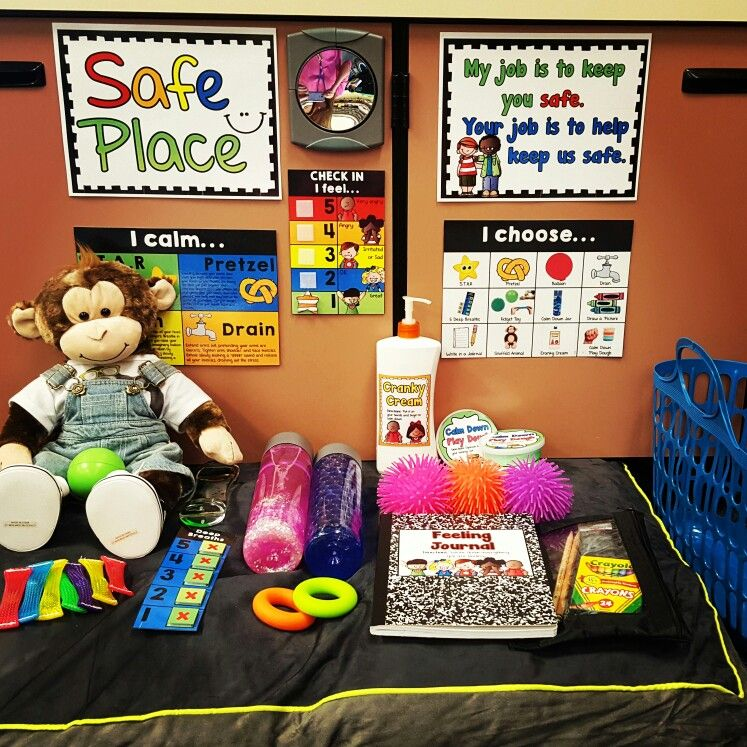 """https://www.teacherspayteachers.com/Product/Creating-a-Safe-Place-Posters-Materials-and-Guide-for-Setup-2775796 This is my latest product """"Creating a Safe Place"""" all set up in my classroom. This is a great way to teach self-regulation and calm down strategies. My students have been very successful since the implementation of this in my classroom."""