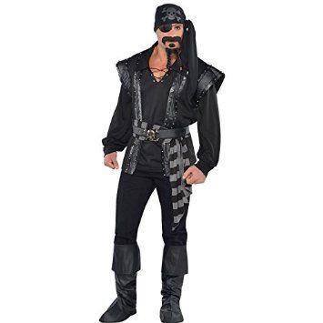 Adulte Dark Scoundrel de mer Pirate pour déguisement Plus grande