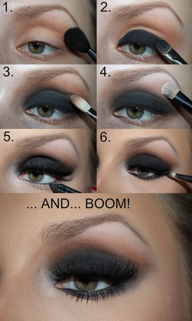 Smokey Eyeshadow Tutorial: Black Smokey Eye Tutorial …