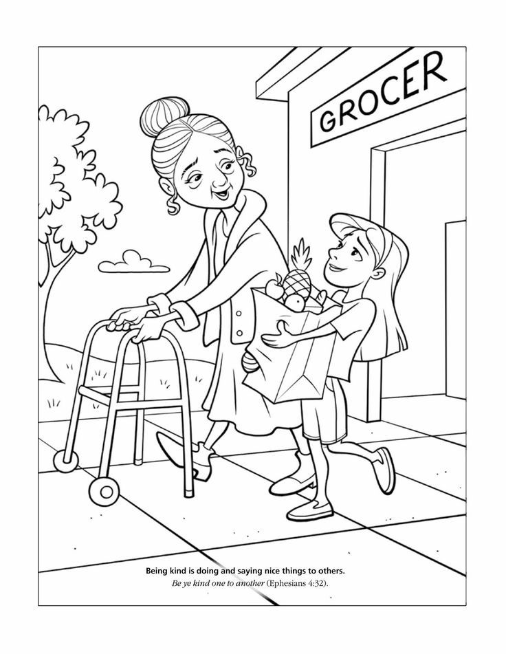 Sunday School Printable Helping Others Lds Coloring Pages