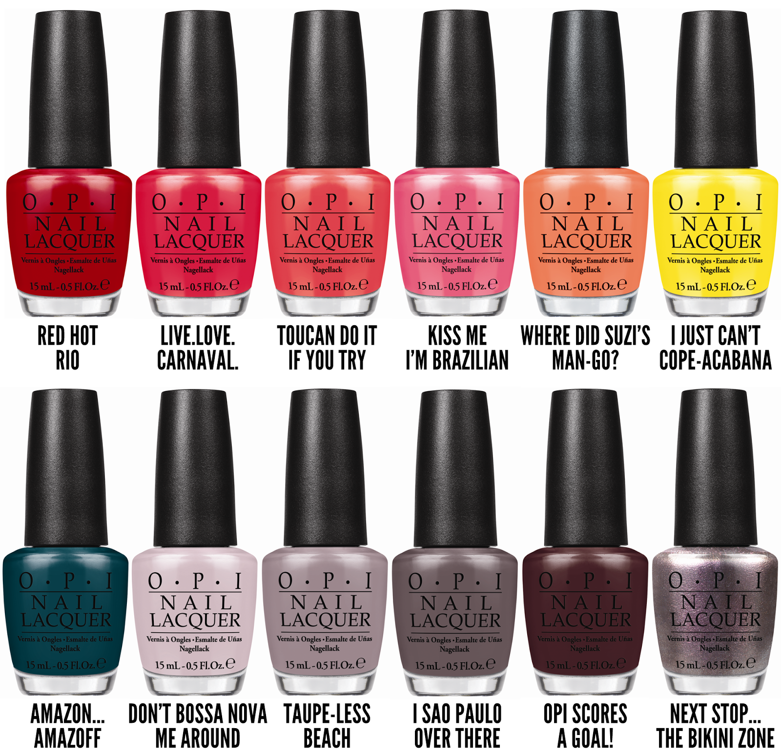 Nice opi nail polish colors list 4 opi nail polish color names list - Opi Brazil Collection For Spring Summer 2014 Summer 2014spring Summeropi Nailsmanicurechalkboard