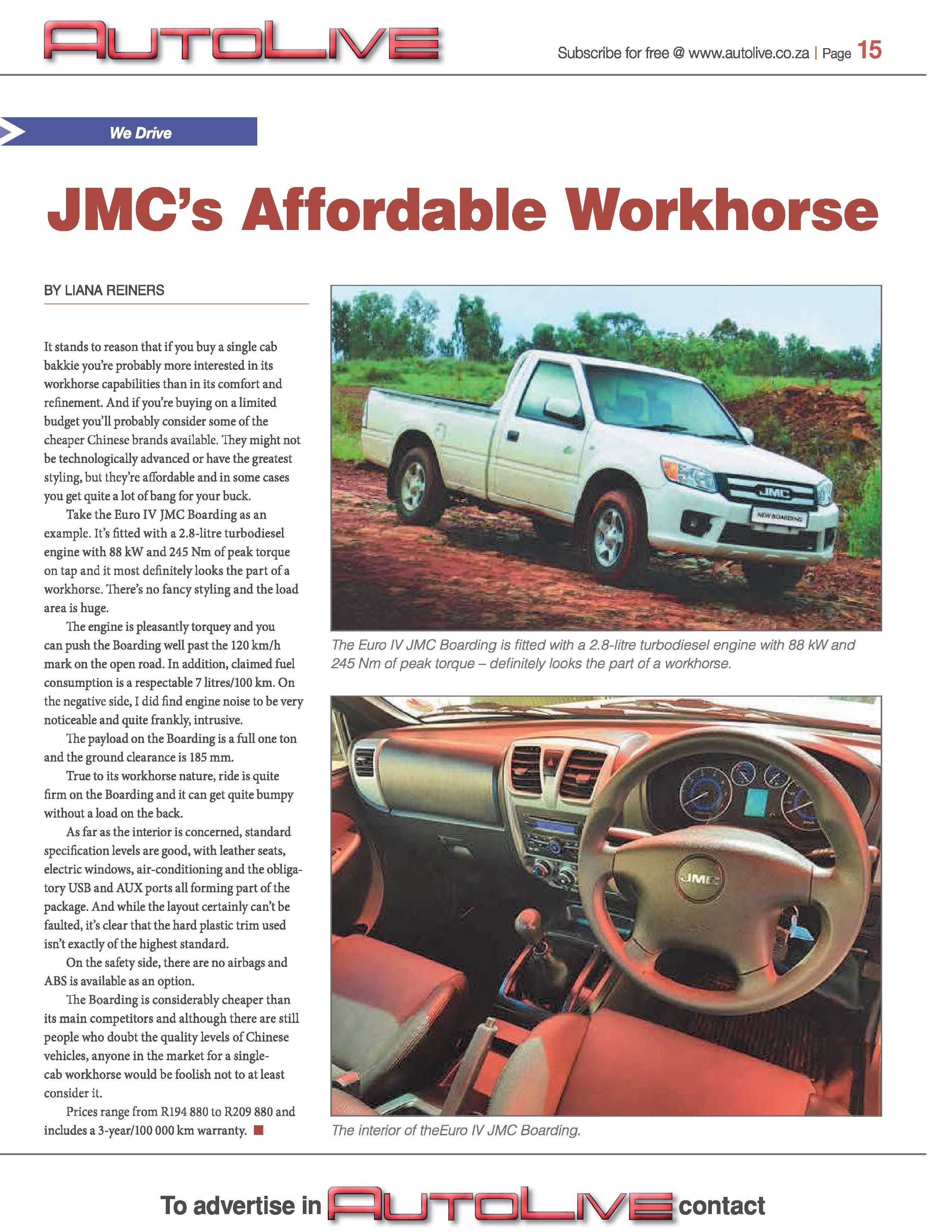 Are you looking for an affordable workhorse? #jmc