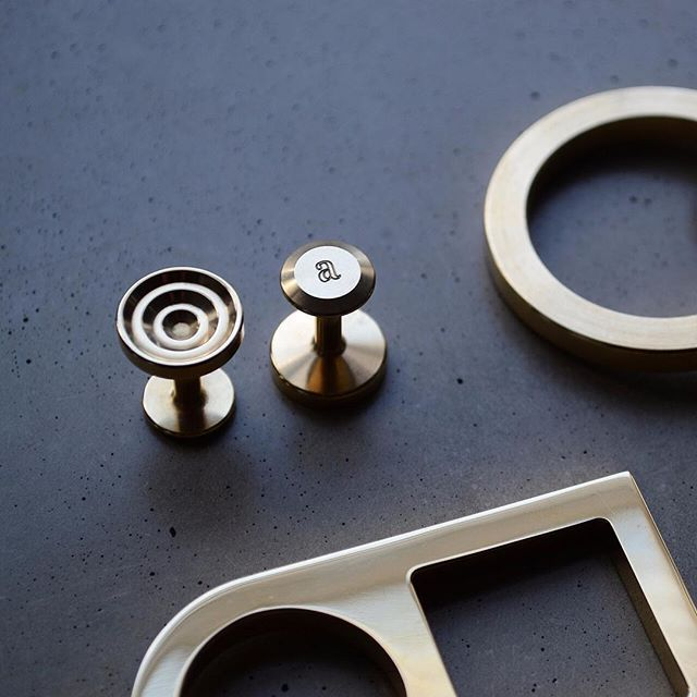 Machined and polished. Clean and refined. Our Lucas #brass cufflinks and our geometric hardware.