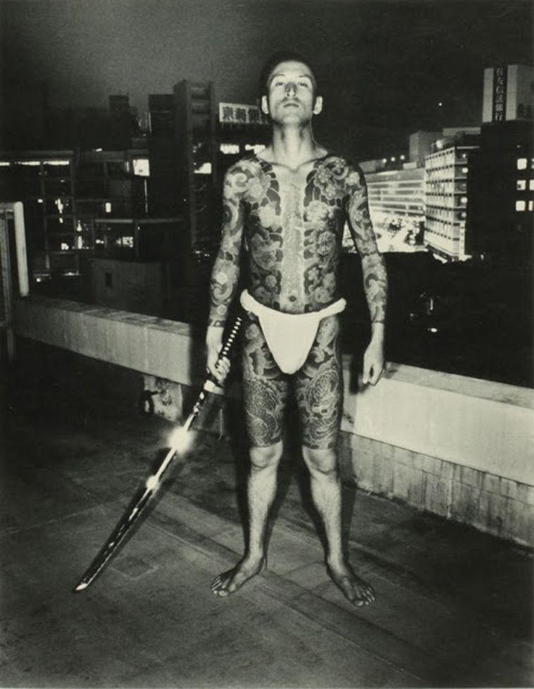 Vintage Photos of Yakuza With Their Full Body Suit Tattoos