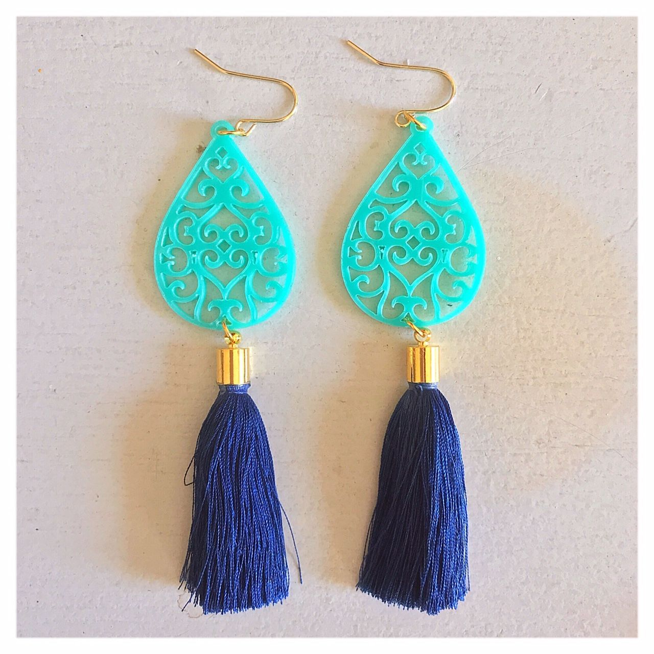 2ccb2ea72c4397 I call these the hospitality earrings - the tassel is handmade with silk  thread and dyed with #bluegoldindigo processed i… | CHI design indigo  products ...