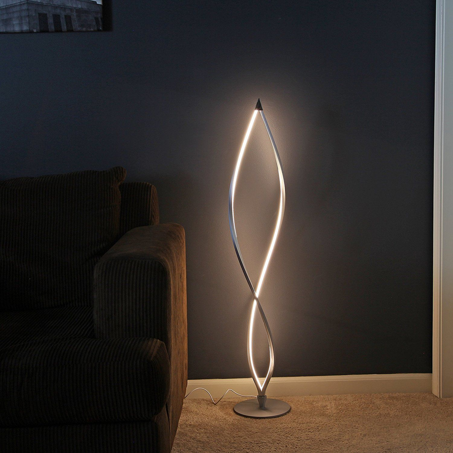 86 Inch 3 Arch Brushed Steel Floor Lamp W Marble Base Dimmer