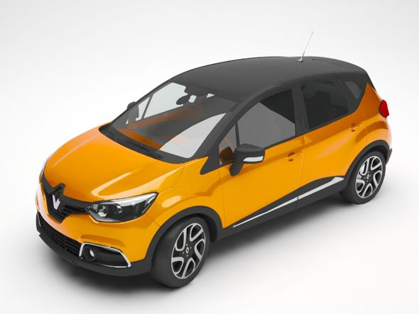 Renault Captur Fully Editable And Reusable 3d Model Of A Car 3d