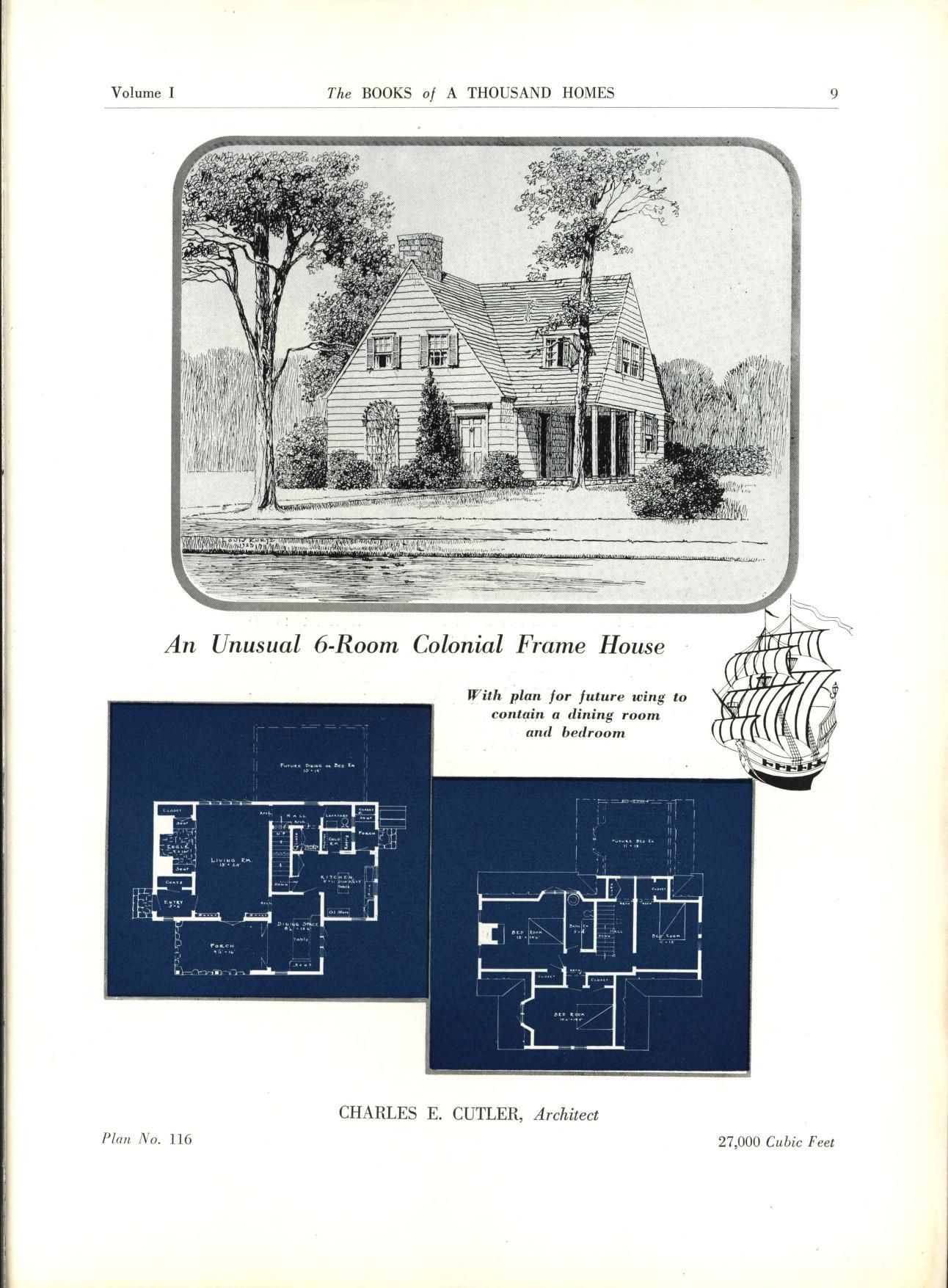 The Books Of A Thousand Homes Vol 1 Home Owners Service Institute Free Download Borrow And Streaming Internet Archive Vintage House Plans Different House Styles Dream House Plans