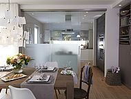 schiebet re zur k che mal offen mal zu das will ich auch luxury haus k che haus a. Black Bedroom Furniture Sets. Home Design Ideas