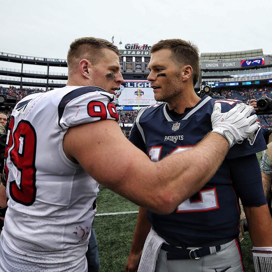 Respect Jjwatt Tombrady Logan Bowles Nfl Nfl Texans Football New England Patriots