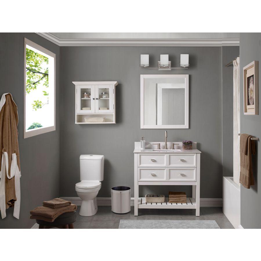 shop scott living white undermount single sink bathroom on lowes vanity id=78254