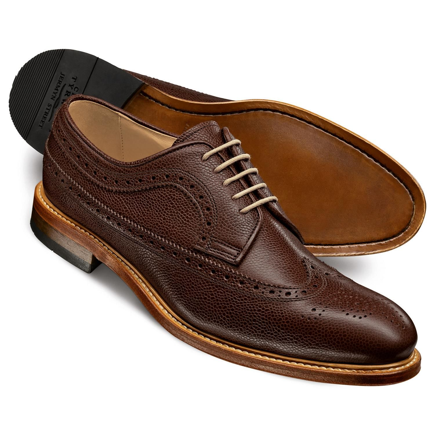 aa7034659040 Brown Anderson Derby brogue shoes Buy Mens Shoes