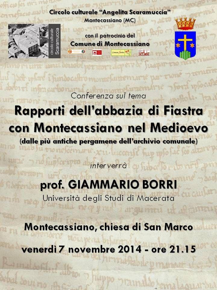 Italia Medievale: Rapporti dell'abbazia di Fiastra con Montecassiano nel Medioevo
