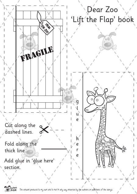 teacher s pet dear zoo lift the flap book templates b w