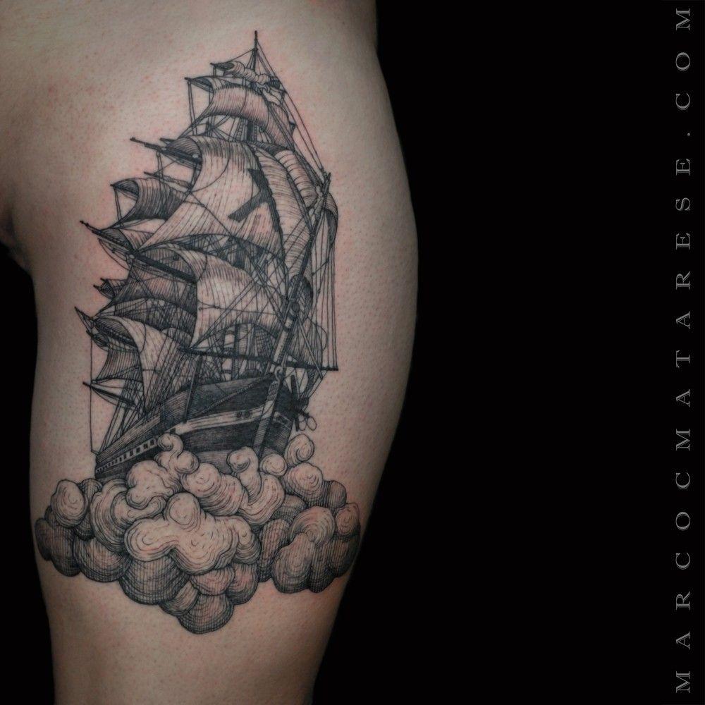 Galleon. Tree. Marco C. Matarese tattoo | Etching, linework, engraving. Milan, Italy. #purotattoostudio #marcocmatarese #matarese #incisione #etching #engraving #drawing #lines #blackwork #milano #milan #tatuage #ink #tattoo #tattooist #nero #tatuatore #linework #blackart #acquaforte #blackline #tattooideas #inktattoo #black #crossetching #galleon