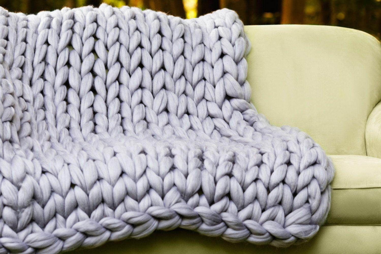 DIY Hand Knitting Kit, Video tutorial for Blanket 40x60