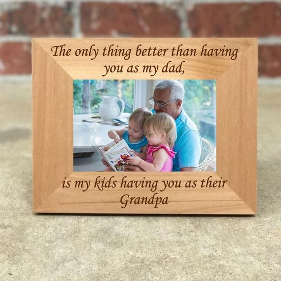 Father's Day Picture Frame, Grandpa Frame, Father's Day Gift, Gift for Grandpa, Birthday Gift, Gift for Dad Grandparent, Best Selling Item