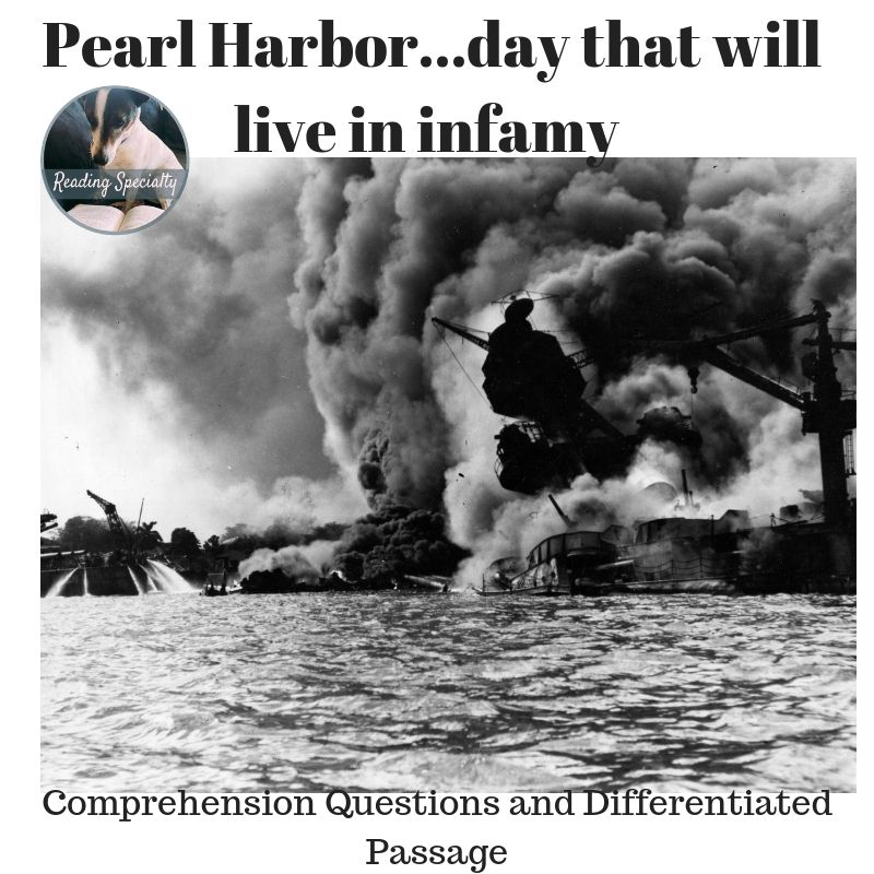 Pearl Harbor, Differentiated Reading Comprehension Passage