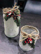 Upcycle - Frost Windlicht - Bienchenweb #weihnachtsdekoglas