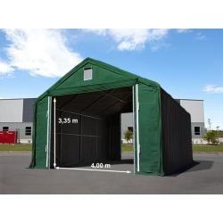 Photo of Zelthalle 6×8 m mit 4×3,35 m Tor, Pvc feuersicher 720 g/m² dunkelgrün | mit Statik (Betonuntergrund)