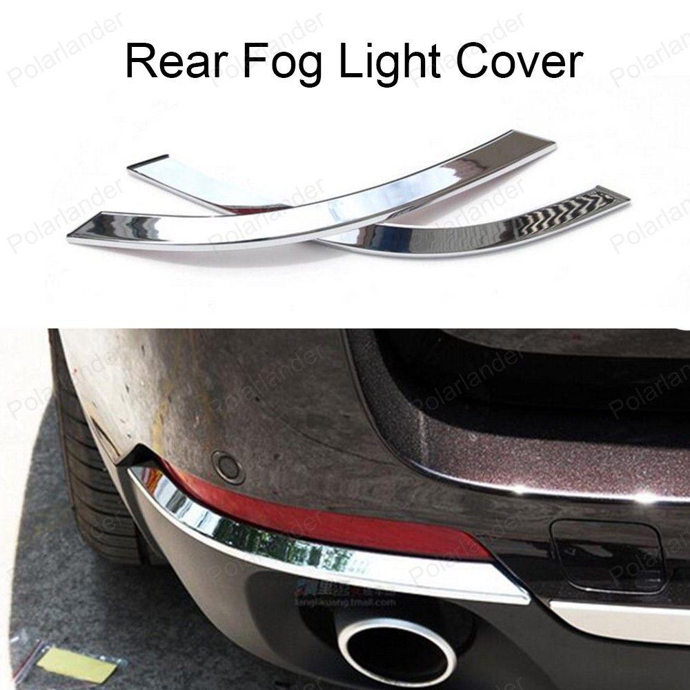 For B Mw X5 F15 2014 2015 Auto Accessories 1 Pair Abs Chrome Car Rear Fog Light Cover Exterior Decoration Trim Light Covers Exterior Decor Car Accessories