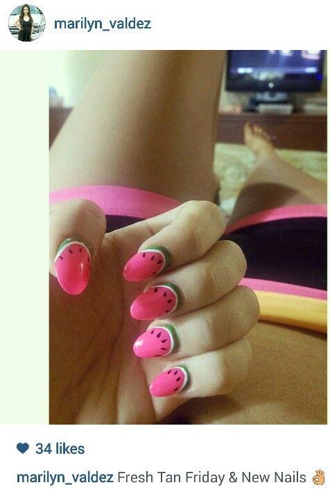 Watermelon Nails,  Nails, Nailpolish, Summer Nails