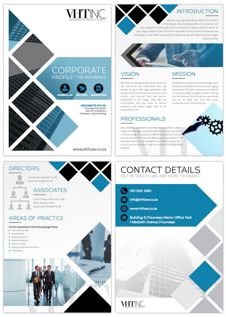 Van Heerden Troskie Inc. Attorneys Company Profile Design