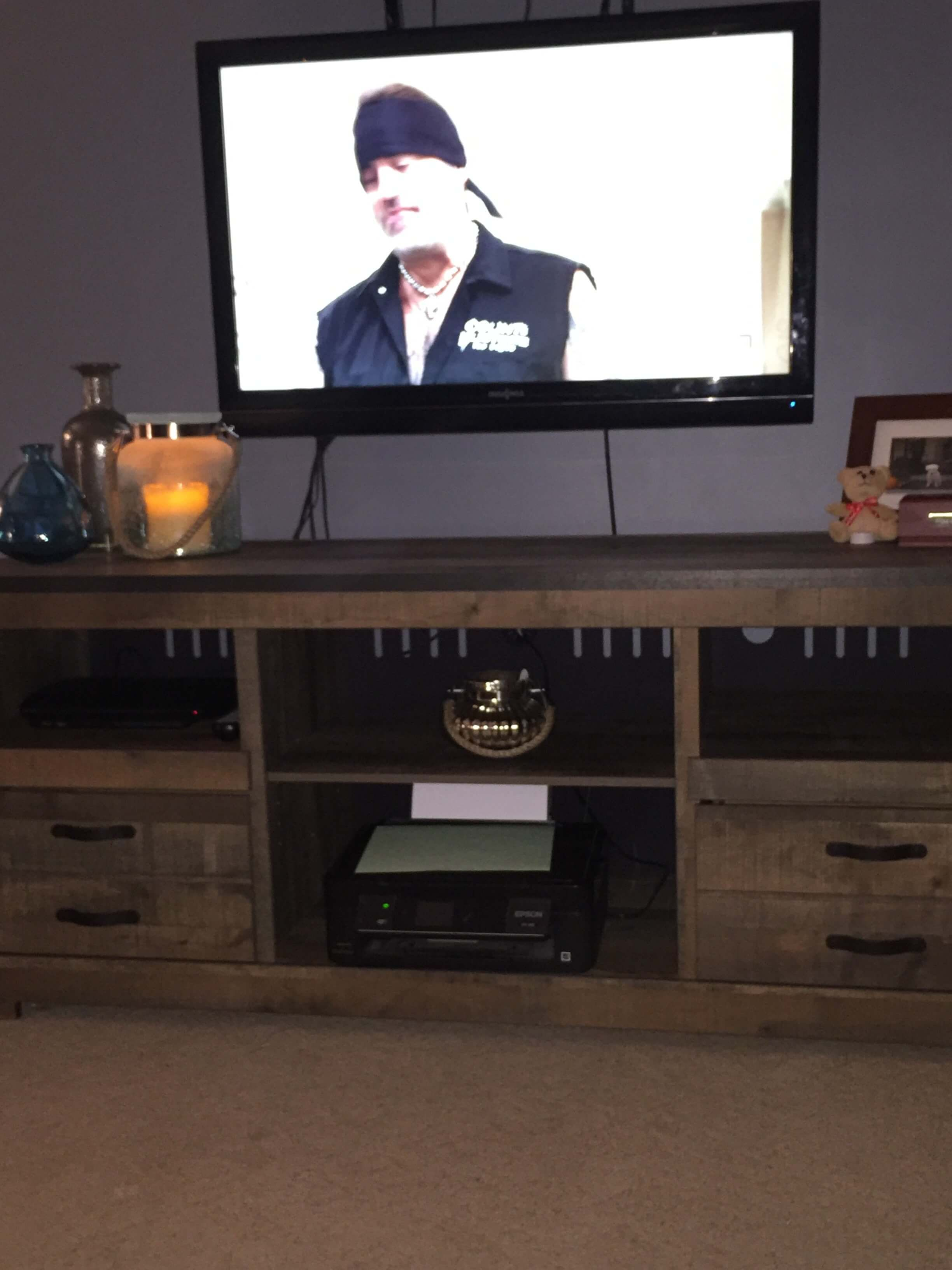 trinell brown entertainment wall on picture of a review ashley furniture legacy furniture entertainment center pinterest