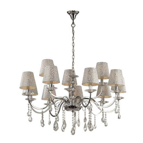 Pantheon 12 Light Shaded Chandelier Ideal Lux Chandelier Shades