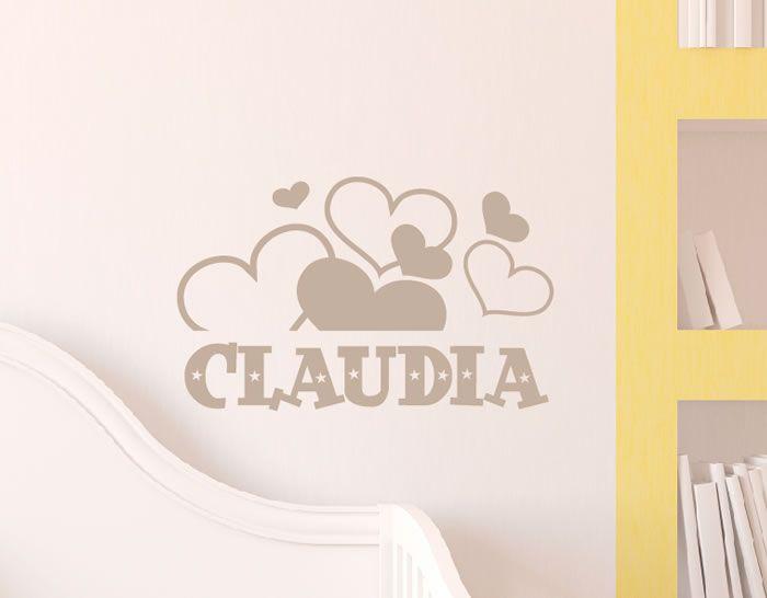 Vinilos decorativos infantiles nombres paredes corazones for Vinilos decorativos infantiles