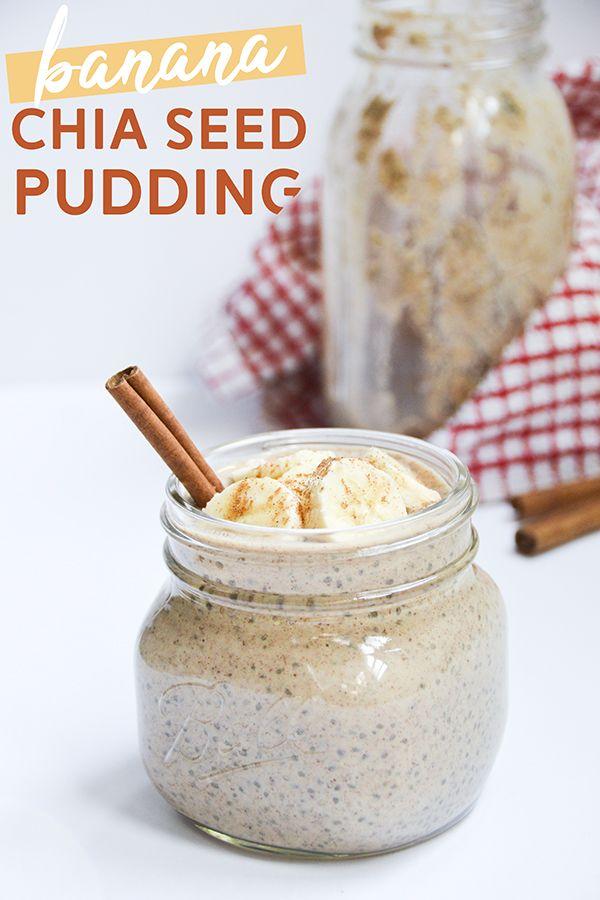 Almond Butter Banana Chia Seed Pudding | Pumps & Iron #chiaseedpudding