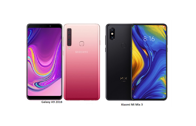 Tspn1 Samsung Galaxy A9 2018 Vs Xiaomi Mi Mix 3 Comparisons Samsung Galaxy Xiaomi Samsung