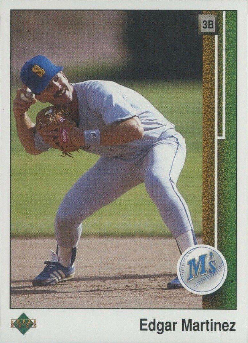 1989 Upper Deck 768 Edgar Martinez Rookie Card in 2020